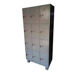 Gray Cr Sheet Staff Lockers, Number Of Lockers: 12, Size/Dimension: 78x36x19 Inch