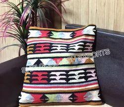 SGE Multicolor Cotton Kilim Cushion