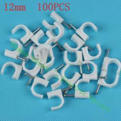 WHITE PVC Cable Nail Clips 32mm