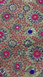 Sequin Embroidered Cotton Fabric