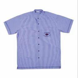 Lining Polyester Ultra Uniforms Half Sleeve School Dress Shirt (Sky Blue)