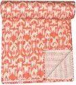 Indian Printed Cotton Kantha Quilt