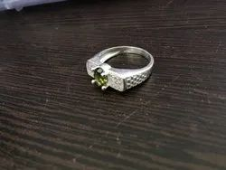 Gents Fancy Silver Ring with Stone