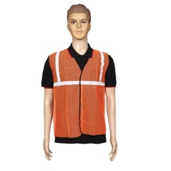 Kasa Life Reflective Safety Jacket 1 Inch Net Orange