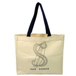 Canvas Bag With Logo Print