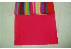 Satin Red Barfi Blended Fabric, 100-150