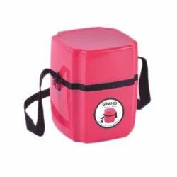 粉红色午餐盒,形状:圆形
