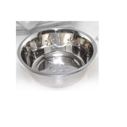 Stainless Steel Pet Bowl W/Inside Embossing, For Home Purpose
