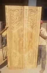 Sagwan Wood Carving Door