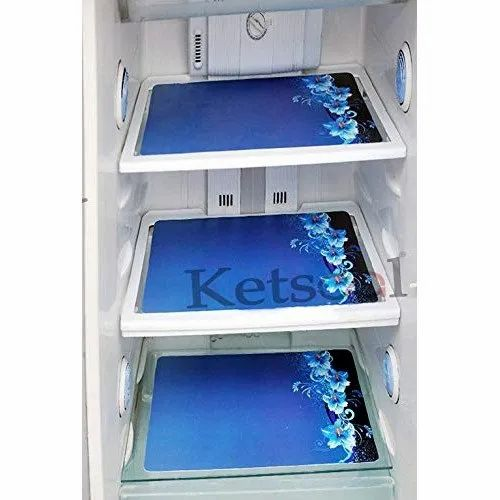 Polyester Pvc Blue Combo Of Exclusive Decorative Fridge Top Cover Fridge Handle Covers Rs 51 Piece Id 21436200797