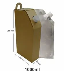 Firstpack Brown Paper Corrugated Tea Flask, Size: 1000 Ml