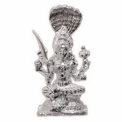 Aluminum Sitting Goddess Mariamman Statue, Size: 8-9 Inch (Height), for Decoration