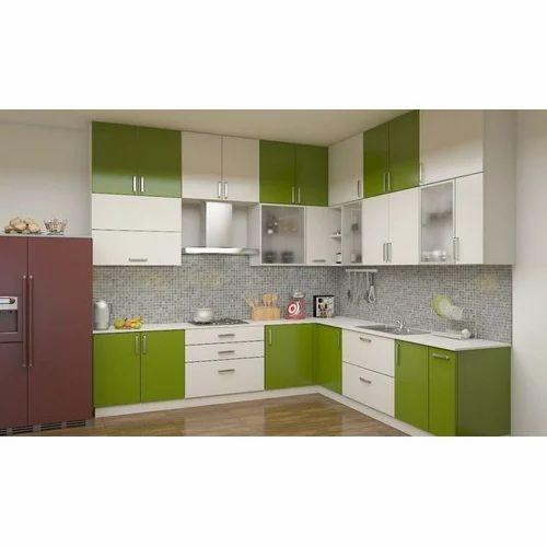 Wooden L Shape Kitchen Cabinet Rs 30000 Unit Kapaleshwar Glass