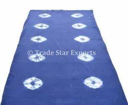 Handmade Shibori Tie Dye 100% Cotton Fabric Blue Tie Dye Dress Making Material Indian Tie Dye Fabric