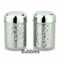 Bubbles Stainless Steel Kitchen Canister