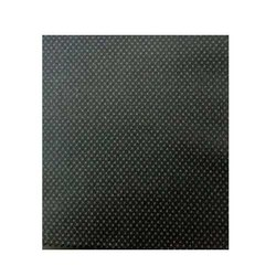 Black Dotted Printed Poly Blend Suiting Fabric, GSM: 100-150