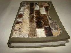 Designer Hair On Handmade Leather Journal