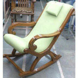 Noor-E-Hind Wooden Rocking Chair, Finish: Polished