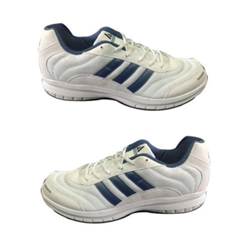 White And Blue Men White Adidas Sports Shoes Packaging Type Box