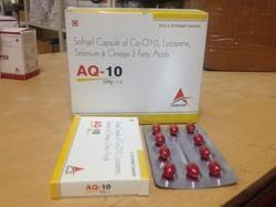 Softgel Capsule Of Co-Q10 Lycopene Selenium & Omega- 3 Fatty Acids