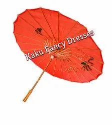 Kaku Fancy Dresses Polyester Japanese Umbrella, Size: Free Size, for School/Fancy Dress Function