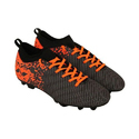 Black And Orange Men Nivia Football Shoe