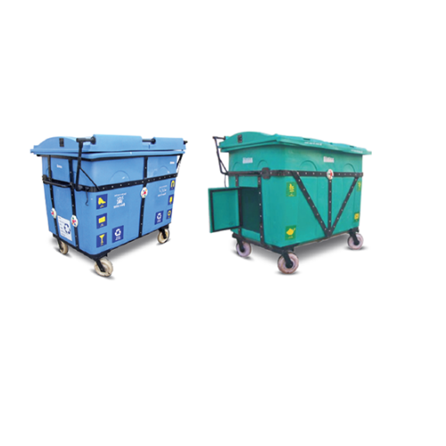 Plastic Green Sintex Giant Wheeled Dust Bins