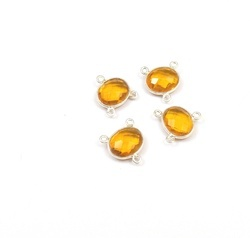 Citrine Quartz Bezel Connector