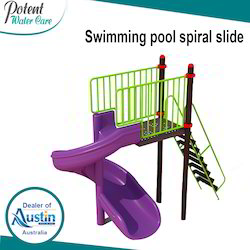 Swimming Pool Spiral Slide