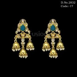 Bollywood Designer Hanging Chandelier Jhumki Earrings