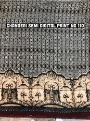 Chanderi Semi Digital Printed