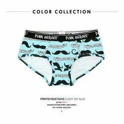 5673ff09a88a Light Sky Blue Pink Heroes Ladies Sky Blue Printed Panties, Size: M