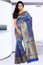 Blue Designer Silk Sarees
