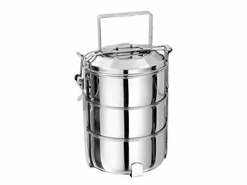 D Mark Stainless Steel SS Thai Tiffin, Capacity: 600 - 4000 Ml, for Office