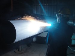 Thermal Spray Aluminium Coating on Pipeline