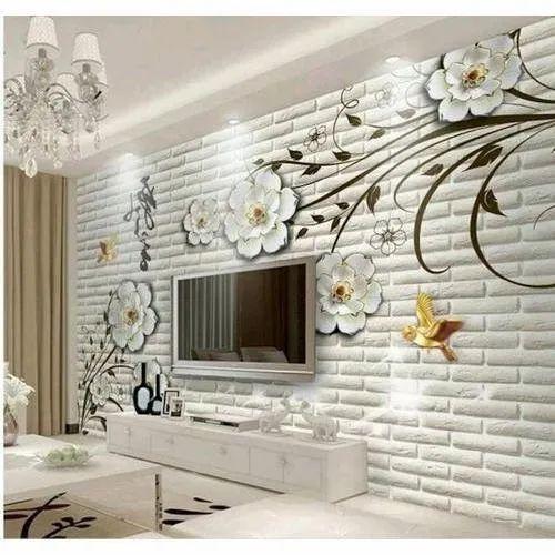 3d Hall Designer Pvc Wallpaper