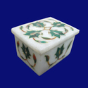 White Marble Inlay Box
