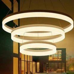 Suspended Aluminium & Acrylic LED Chandeliers