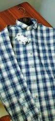 Collar Neck Men's Cotton Shirt