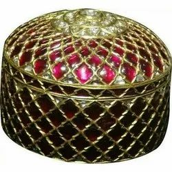 JSS Jewellers Round Designer Silver Jewelry Box, For Jewellery Packaging