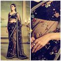 Net Embroidered Saree, 5.5 M (separate Blouse Piece), With Blouse Piece