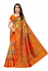 Kalamkari Art Silk Saree With Blouse