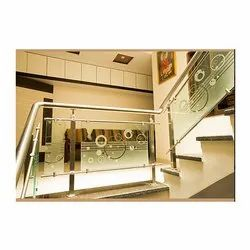 Staircase Railing Glass, 10-12 Mm