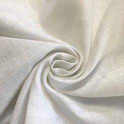 White Plain Multi Colour Shirting Lenin Fabric, GSM: 100-150