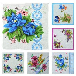 Ladies Printed Handkerchief, Size: 12x12 Inch