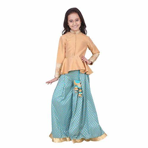 9d4f0728 Beige And Light Blue CHIQUITITA Kids Designer Sharara, Rs 4500 /unit ...