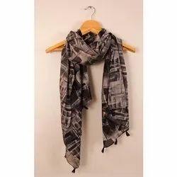 1.5-2m Cotton Ladies Designer Scarf