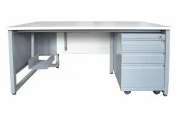VEETON Grey EXECUTIVE COMPUTER TABLE, For Corporate Office