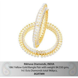 12d211733f9de4 Diamond Bangles, हीरे की चूड़ी at Rs 790723 /pair ...