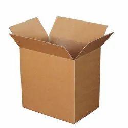 Brown 5 Ply Plain Corrugated Packaging Box, Box Capacity: 15-20 Kg
